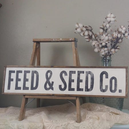 Feed & Seed Sign