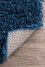 Load image into Gallery viewer, Navy Shaggy Area Rug 3x5