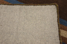 Load image into Gallery viewer, Striped Brown /Blue Rug 2x3
