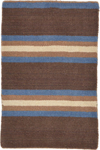 Striped Brown /Blue Rug 2x3