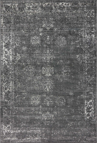 Gray Vintage Style Rug 4x6