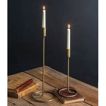 Load image into Gallery viewer, Taper Candle Holder Gold Large