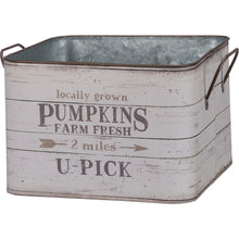 Load image into Gallery viewer, Metal Bin  - Fresh Pumpkins OR Fresh Gourds