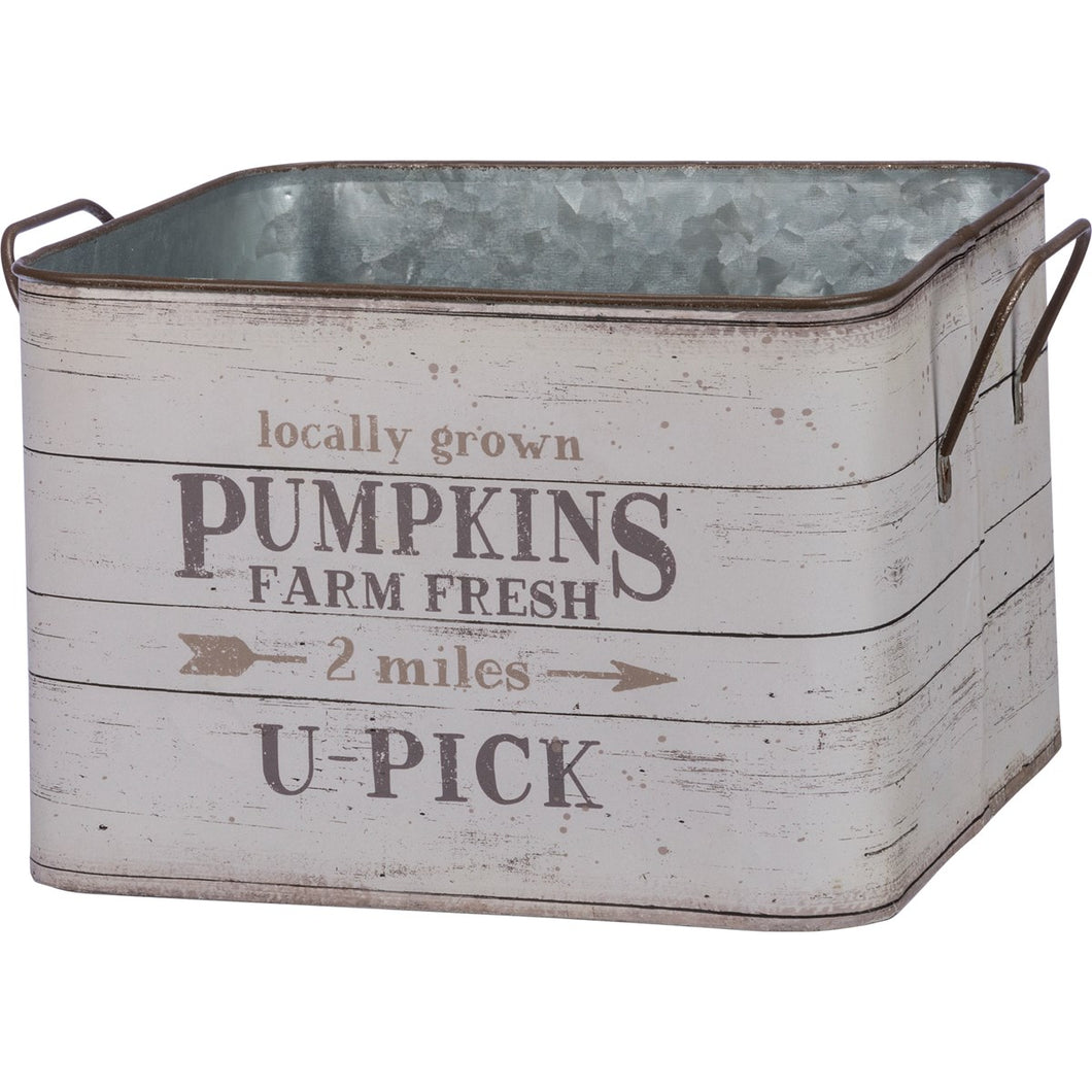 Metal Bin  - Fresh Pumpkins OR Fresh Gourds