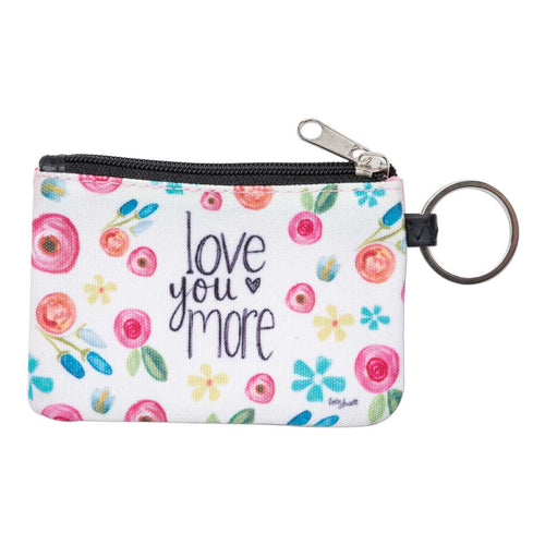 Love You More ID Wallet Keychain