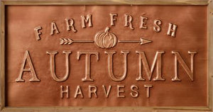 Copper Sign - Autumn Harvest