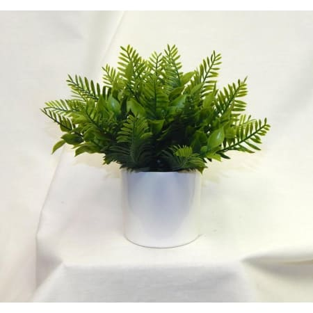 Minimalist Mixed Leather Fern Arrangement (Faux)