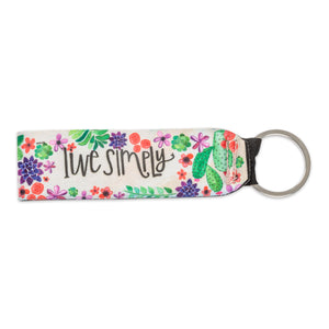 Live Simply Keychain