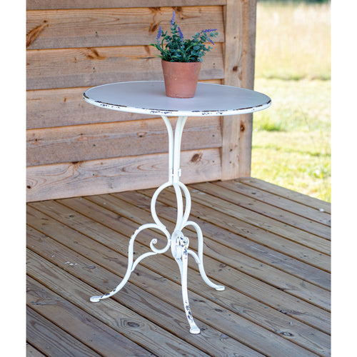 White Metal Round Table