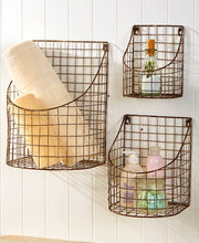 Load image into Gallery viewer, Rustic Farmhouse Wall Basket -Large