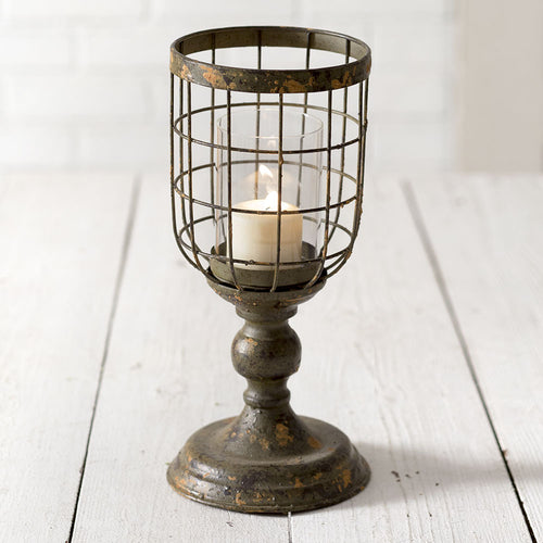 Medium Distressed Candle Stand