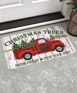Holiday Christmas Trees Doormat
