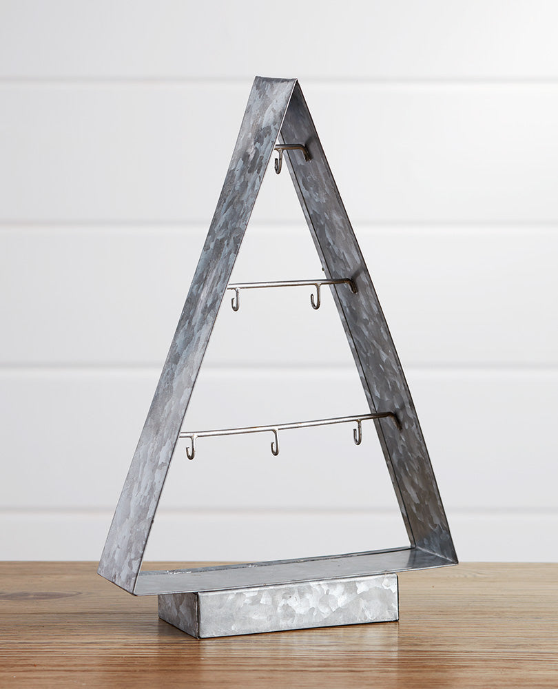 Galvanized Metal Ornament Tree - Small