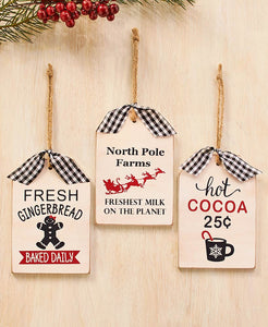 Wood Tag/ Ornaments - Fresh Gingerbread