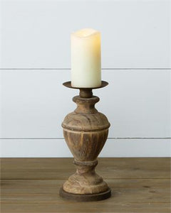 Wooden Candle Holder Medium