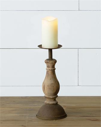 Wooden Candle Holder Large