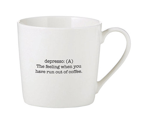 Depresso Definition Cafe Mug