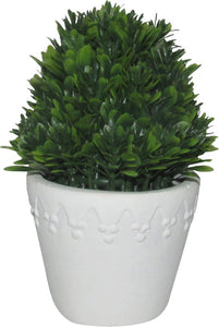 Faux Boxwood Topiary in Pot