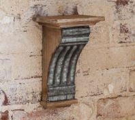 Embossed Tin Molding Wall Sconce Column