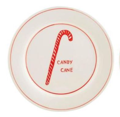 Molly Hatch Dessert Plate Candy Cane