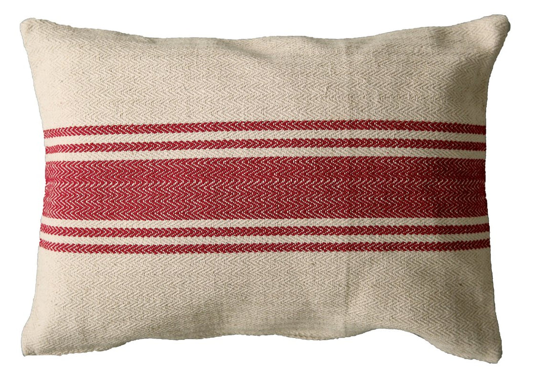 Farmhouse Stripe Lumbar Pillow