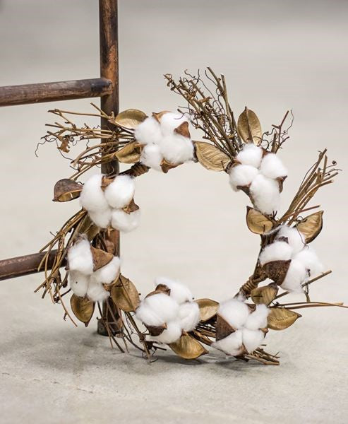 Cotton and Twig Candle Ring