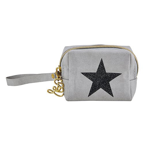 Grey Star - Zipper Pouch