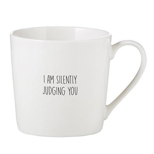 I Am Silently Judging You Cafe Mug