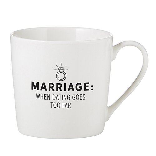 When Dating Goes Too Far Cafe Mug