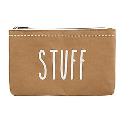 Washable Paper Zippered Pouch - Stuff