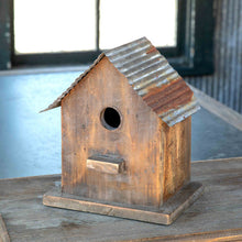 Load image into Gallery viewer, Little Bird House with Tin Roof