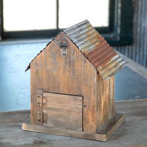 Little Bird House with Tin Roof