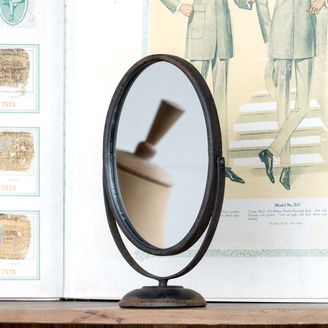 Oval Framed Vanity Mirror