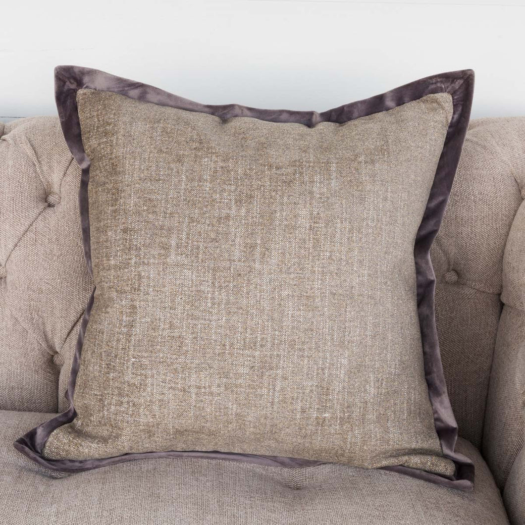 Plush Sage Throw Pillow with Velvet Flange
