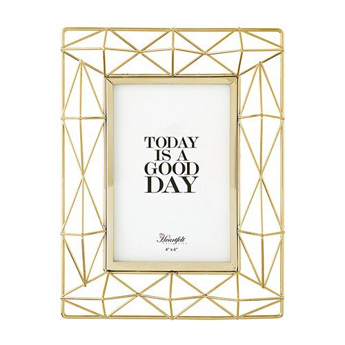 Geometry Photo Frame Gold