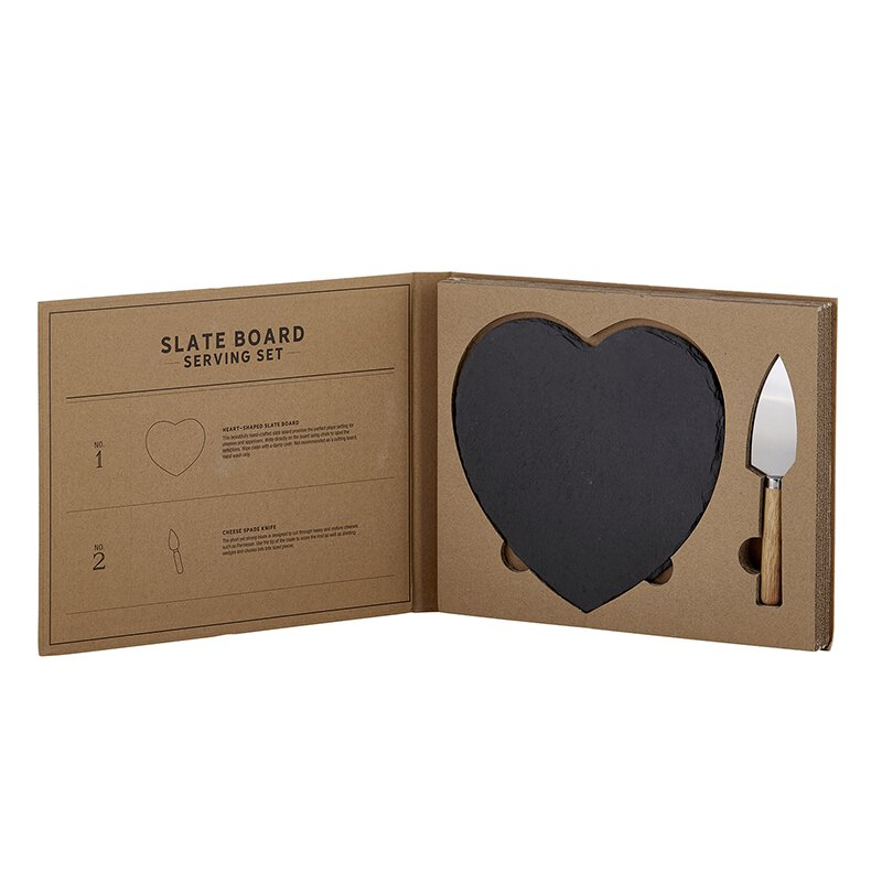Slate Board Serving Set Cardboard Book Set