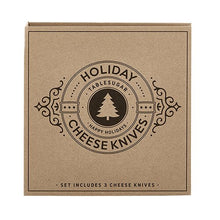 Load image into Gallery viewer, Cardboard Book Set - Holiday Cheese Knives