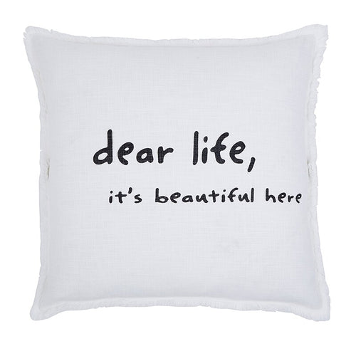 Dear Life, It's Beautiful Here Euro Pillow
