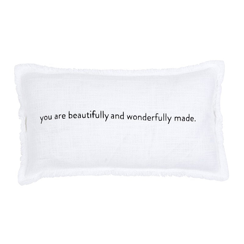You Are Beautifully And Wonderfully Made -Rectangle Sofa Pillow