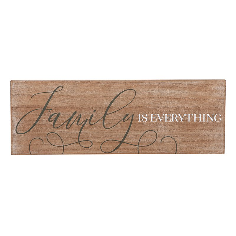 Wall Décor - Wooden Plaque - Family