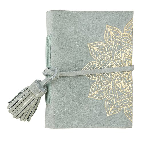 Suede Leather Notebook - Mist Mandala