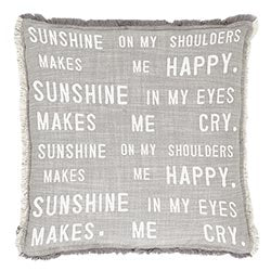 Sunshine On My Shoulders Euro Pillow