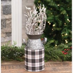 Black & White Homeplace Plaid Pail