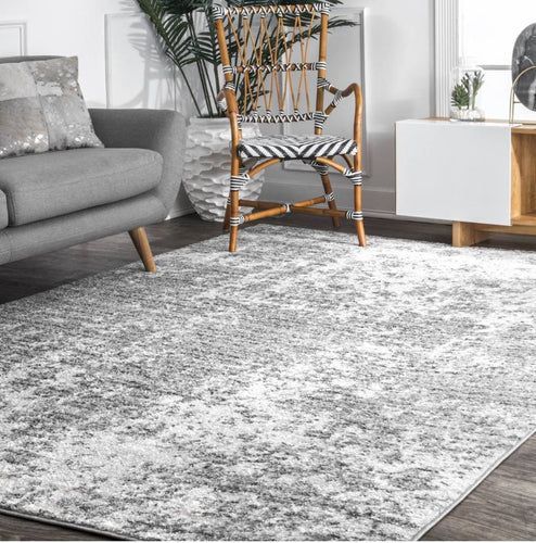 Gray Mist Shades Area Rug 4'x6'