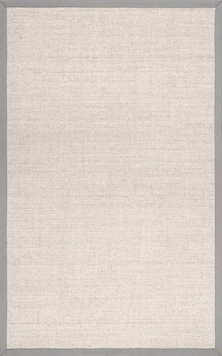 Grey Checker Weave Sisal Rug 2x3
