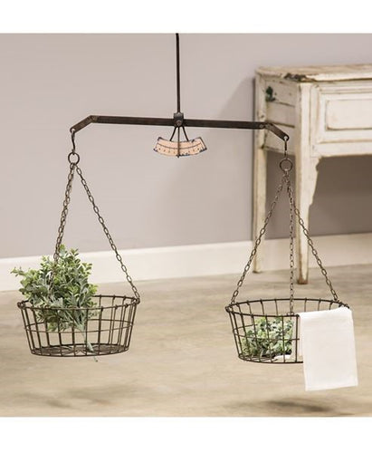 Hanging Scale w/ Two Wire Baskets