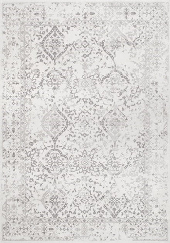 Ivory Floral Ornament Rug 4x6