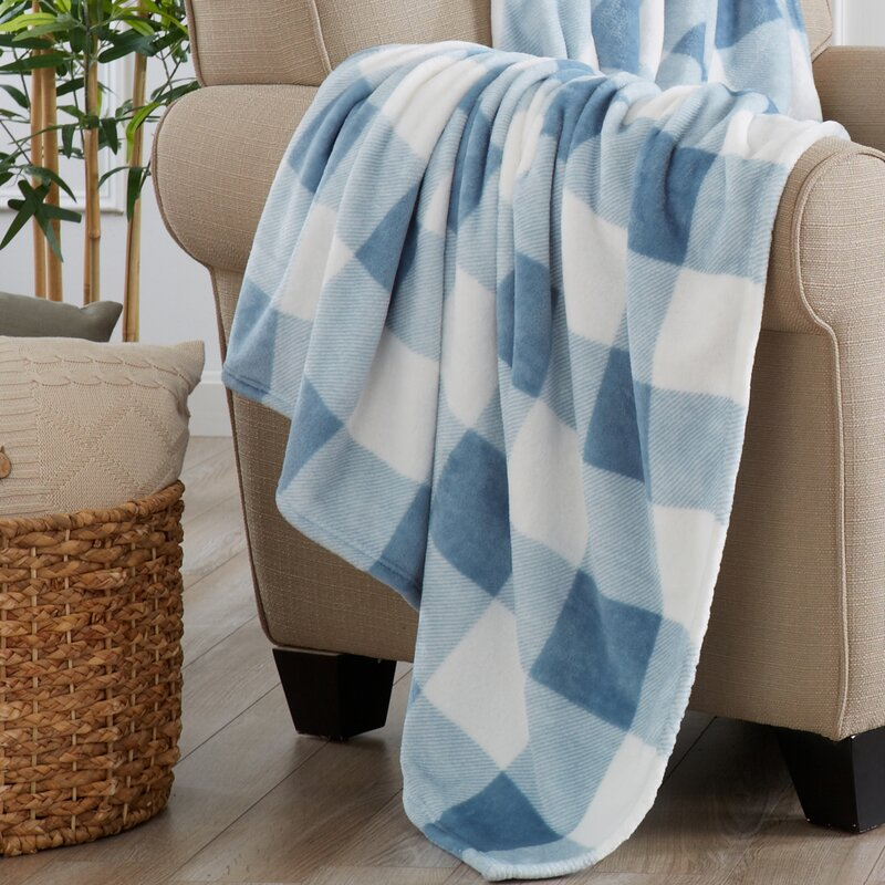 Super Soft Velvet Plush Oversized Throw - Stone Blue