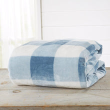 Load image into Gallery viewer, Super Soft Velvet Plush Oversized Throw - Stone Blue