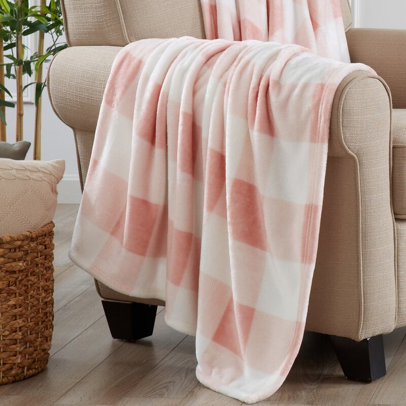 Super Soft Velvet Plush Oversized Throw - Pink